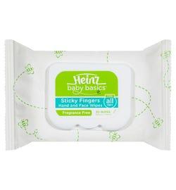 Heinz Baby Basics Sticky Fingers Fragrance Free Wipes X 30