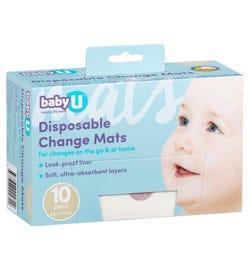 babyU Disposable Change Mats X 10