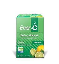 Ener-C Effervescent Vitamin C Drink Mix (Lemon Lime) Sachets X 12