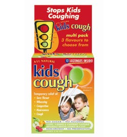 Kids Cough Lozenges On A Stick (Variety) X 12