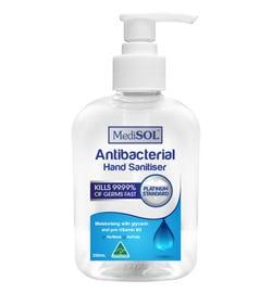 Medisol Antibacterial Hand Sanitiser 250ml