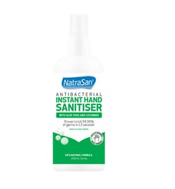 NatraSan Hand Sanitiser Spray Aloe & Cucumber 200ml