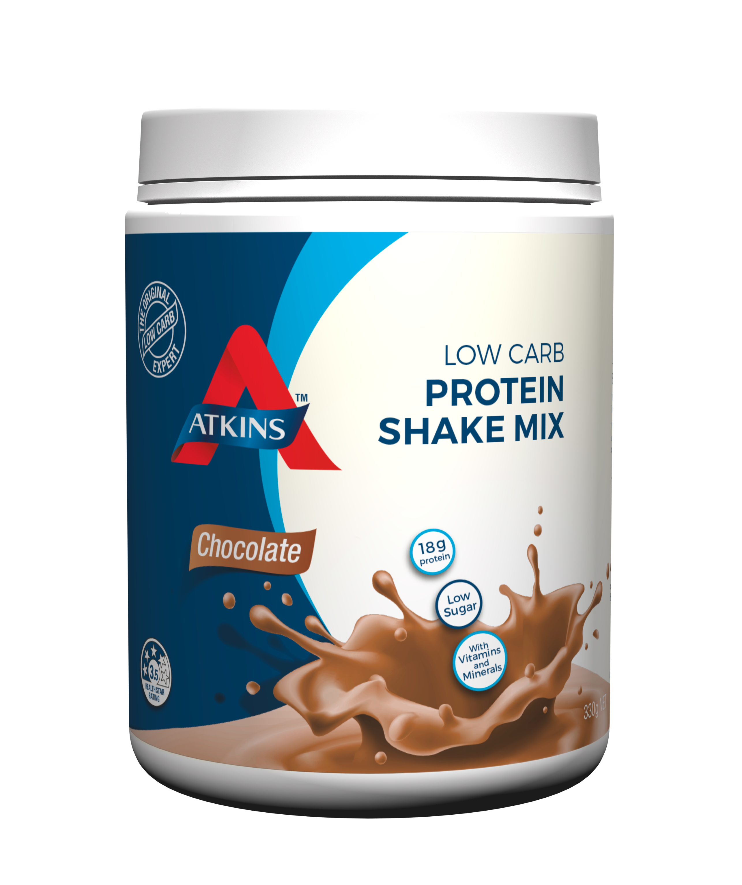 New 330g Atkins Shake Mix Chocolate Low Carb High Protein ...