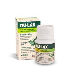 Nu-Lax Natural Laxative With Prebiotic Tab X 40